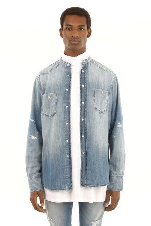 Camasa Jeans fabricata manual din material blug