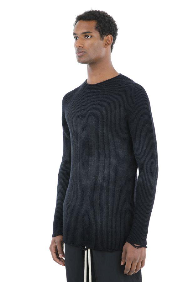 Cardigan Sfumato fabricat manual din lana merinos
