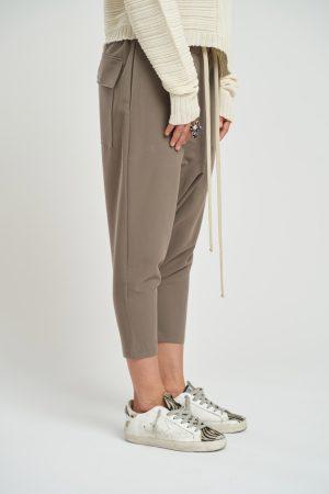 Pantalon Cady Feminin fabricat manual din material cady si de culoare beige