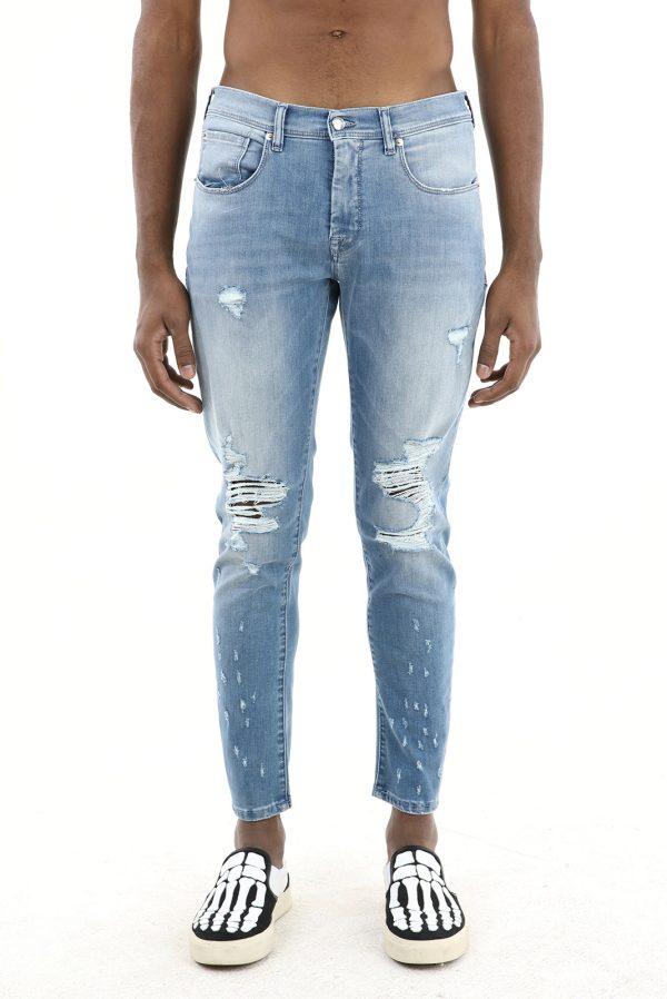 Pantalon Jeans fabricat manual din material blug premium