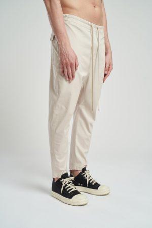 Pantalon Nozip de culoare beige