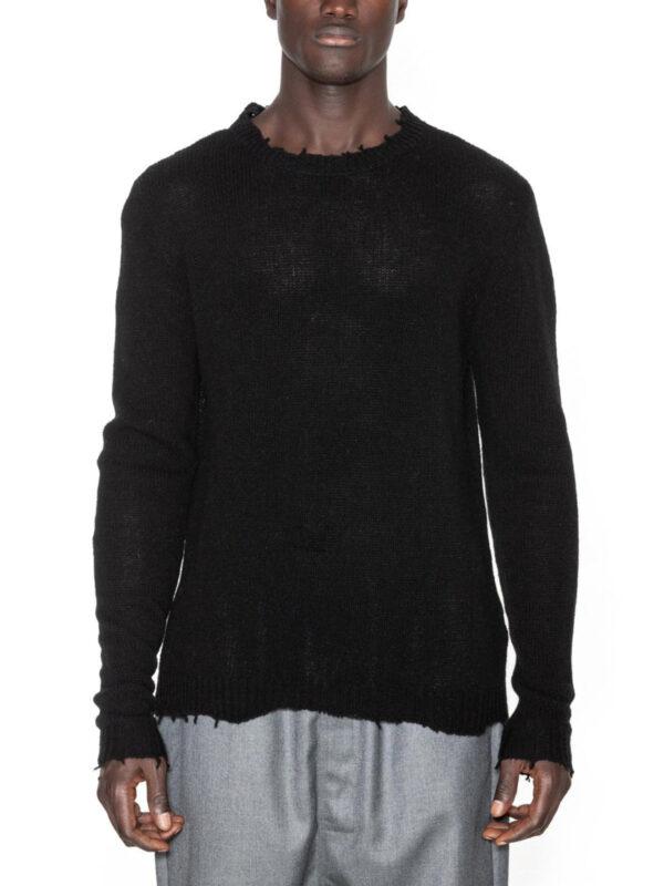 Pulover Distrutto de culoare neagra pentru barbati