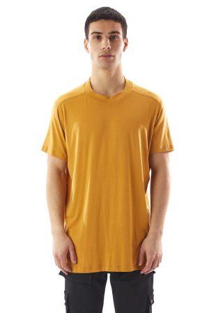 Tricou Cancun de culoare galben mustar fabricat manual