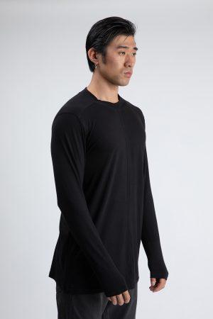 Tricou Tokyo Long de culoare neagra si cu maneci lungi