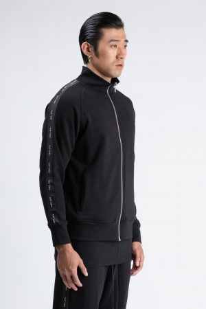 bluza de trening cu fermoar si logo pentru barbati