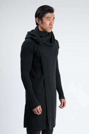 carigan lung fabricat din lana produs de A.M.Couture