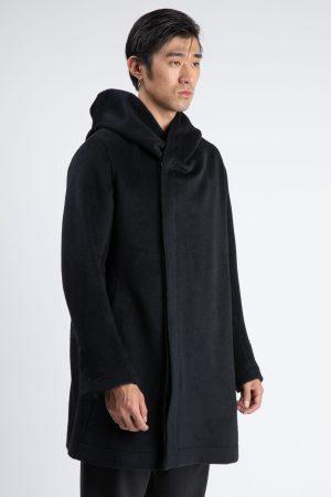 haina de barbati lunga si fabricata manual din casmir