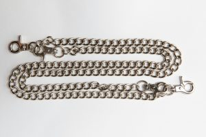 lant dublu de tip ornament din argint pentru pantalon