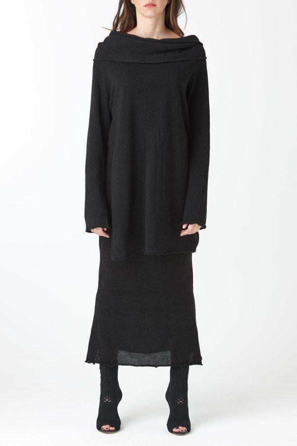 pulover cu gat larg pentru femei produs de A.M.Couture